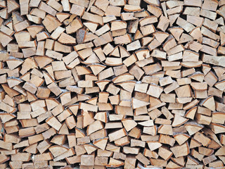Stack of wood, a pile of firewood