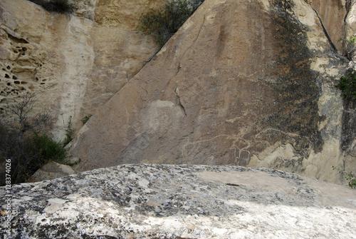 Quot prehistoric rock carvings petroglyph in gobustan