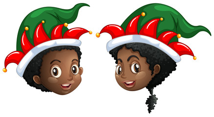Christmas theme with kids in party hat