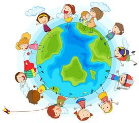 Many children around the world