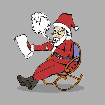 Santa with vape