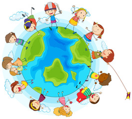Lots of children around the world