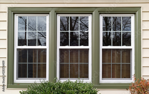 Quot New White With Green Trim Vinyl Replacement Windows