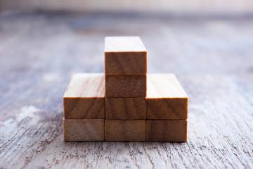 Wood block, business concept.