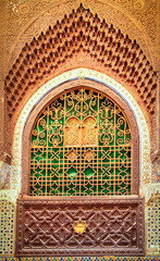 Decorated window of a mosque