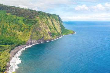 Amazing view in Waipio Valley, Big Island, Hawaii, Usa