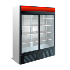 refrigerator showcase kitchen
