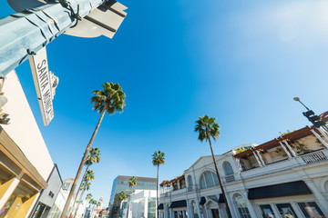 Santa Monica boulevard sign in Beverly Hills