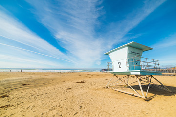 Lifeguard tower in Pismo Beach