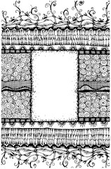 Zentagle decorative design frame with space for text. Doodle