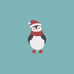 Cute cartoon penguin. vector illustration