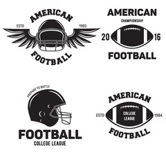 Retro Vintage American Football emblems set logos labels symbols icons and badges.