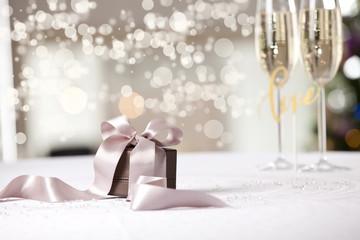 Image of luxury New Year gift.