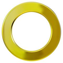 Frame gold ring