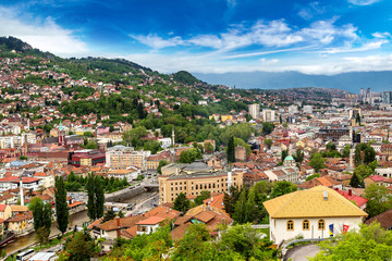 Panoramic view of Sarajevo