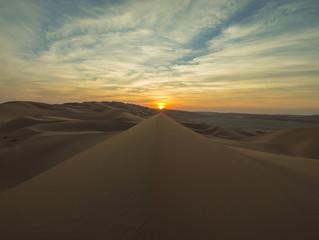 Empty Quarter Sunset over a Dune Ridge