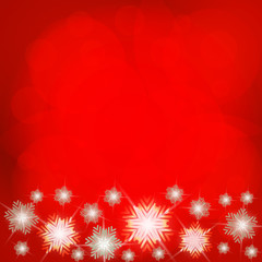 Christmas background in red and white colours. Illustration.