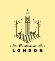 City of London Monogram Vector Design Template