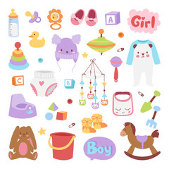 Baby icons set vector.