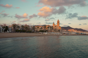 Church of Sant Bartomeu and Santa Tecla in the Sitges, Spain