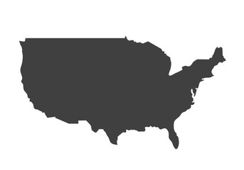 Vector map of USA. United States of America country. Blank similar USA map isolated on white background.