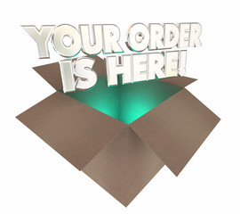 Your Order is Here Box Package Arrived 3d Illustration