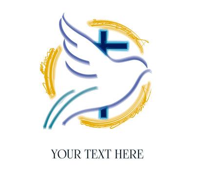 Cross church logo, youth ministries dove