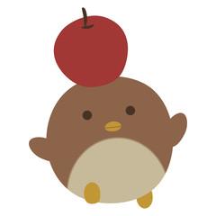 ペンギンとりんご