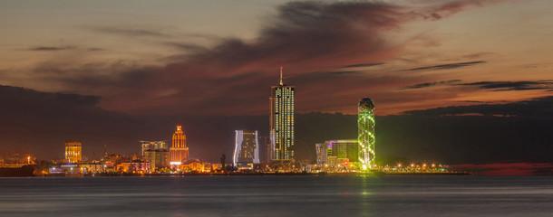 Panorama night city Batumi