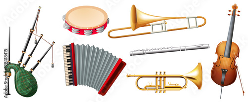 Different music instruments pictures