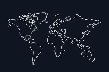 world map stroke