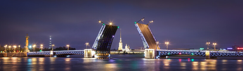 Palace drawbridge in Saint Petersburg