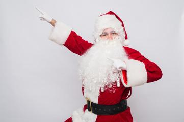 Santa Claus superhero. Christmas holiday concept