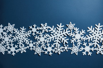 Christmas decoration with snowflakes