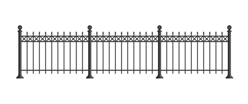 Black forged lattice fence.