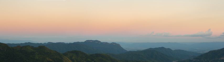 Khao Kho Mountain at sunset, Phetchabun Province, Thailand (pano