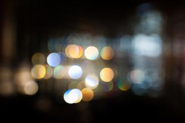 Blurred lights Bokeh