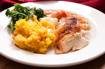 chicken with squash and vegetables