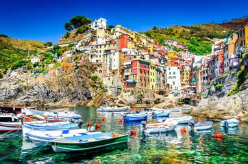 Foto auf Gartenposter Ligurien Riomaggiore, Cinque Terre, Italy