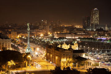 City of Barcelona by Night