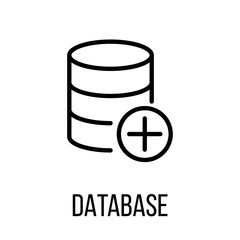 Database icon or logo in modern line style