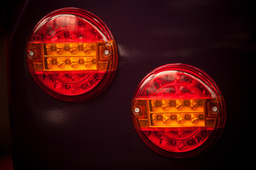 Vintage car rear lights