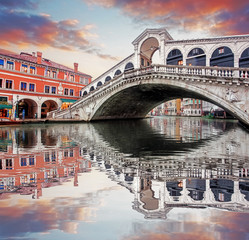 Foto op Plexiglas Venetie Venice - Rialto bridge and Grand Canal