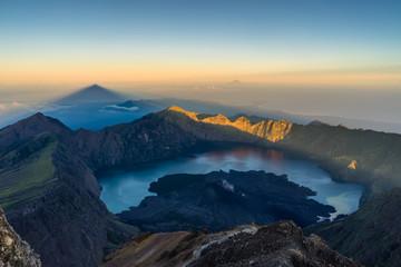 The top of Mount Rinjani