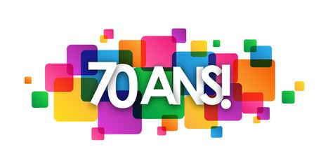 Icône Vecteur 70 ANS