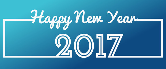Happy New Year 2017 text design celebration greeting card. Vector Illustration.