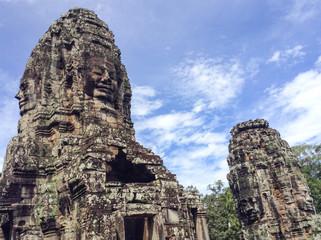 Bayon Temple at Angkor Thom, Siem Reap Cambodia