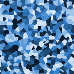 Blue shapes abstract 3d texture camouflage modern background