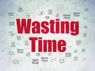 Time concept: Wasting Time on Digital Data Paper background
