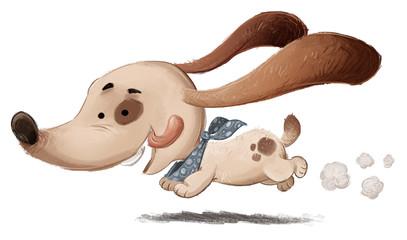 perro corriendo feliz
